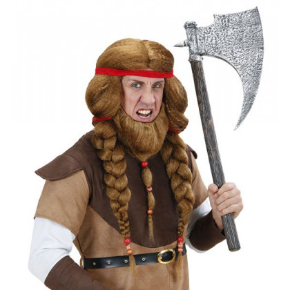 Wikinger Perücke Barbaren Krieger Herr der Ringe