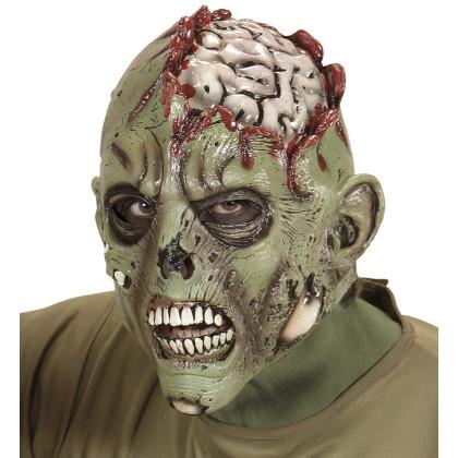 Zombie Maske offenes Gehirn
