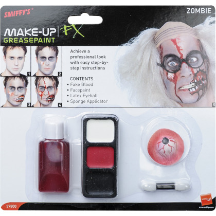 Zombie-Schmink Set m. Auge