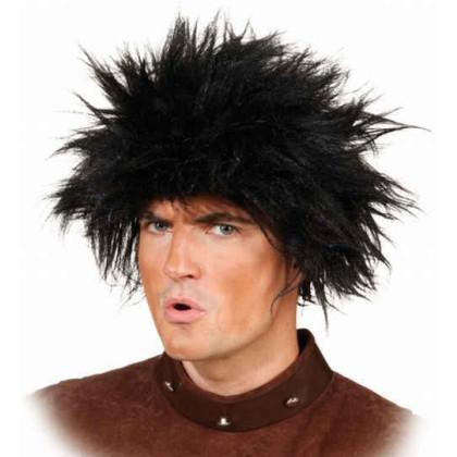 Zottlige Frisur in schwarz