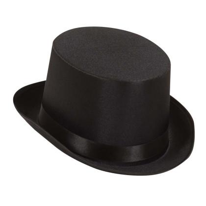 Zylinder schwarz für Karneval, Fasching und Show