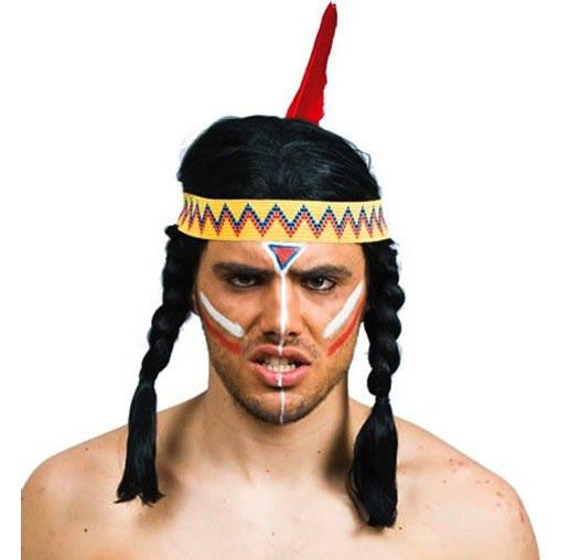 indianer per cke mit z pfen strinband und einer feder. Black Bedroom Furniture Sets. Home Design Ideas