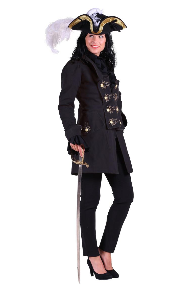 filibusterin jacket piratin mantel in schwarz in sch ner. Black Bedroom Furniture Sets. Home Design Ideas