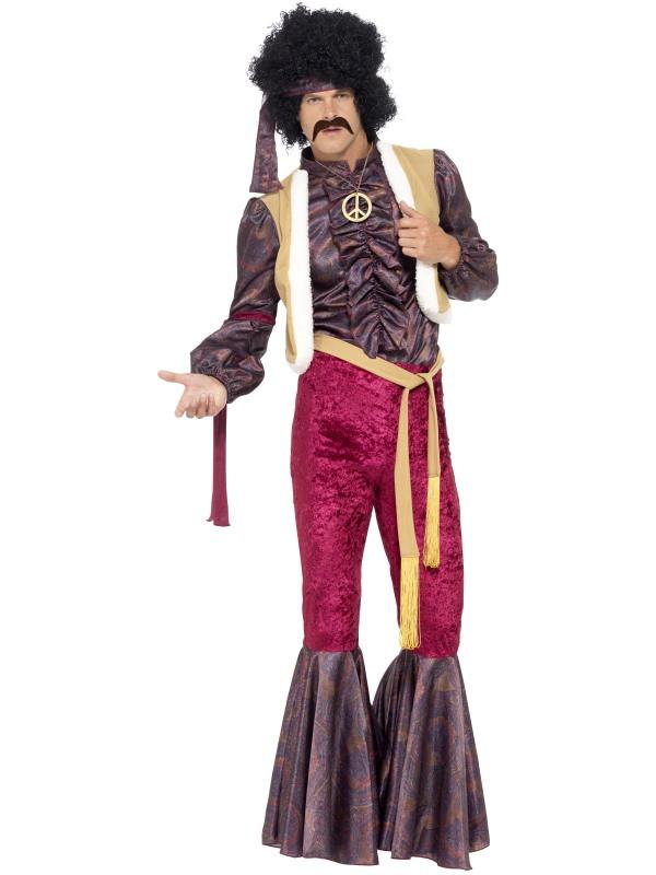 70er Kostum Woodstock Rockstar Kostum