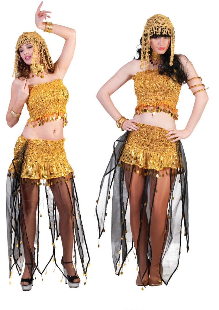 Bauchtanzerin Kostum In Gold Harem Und Orientalische Themen