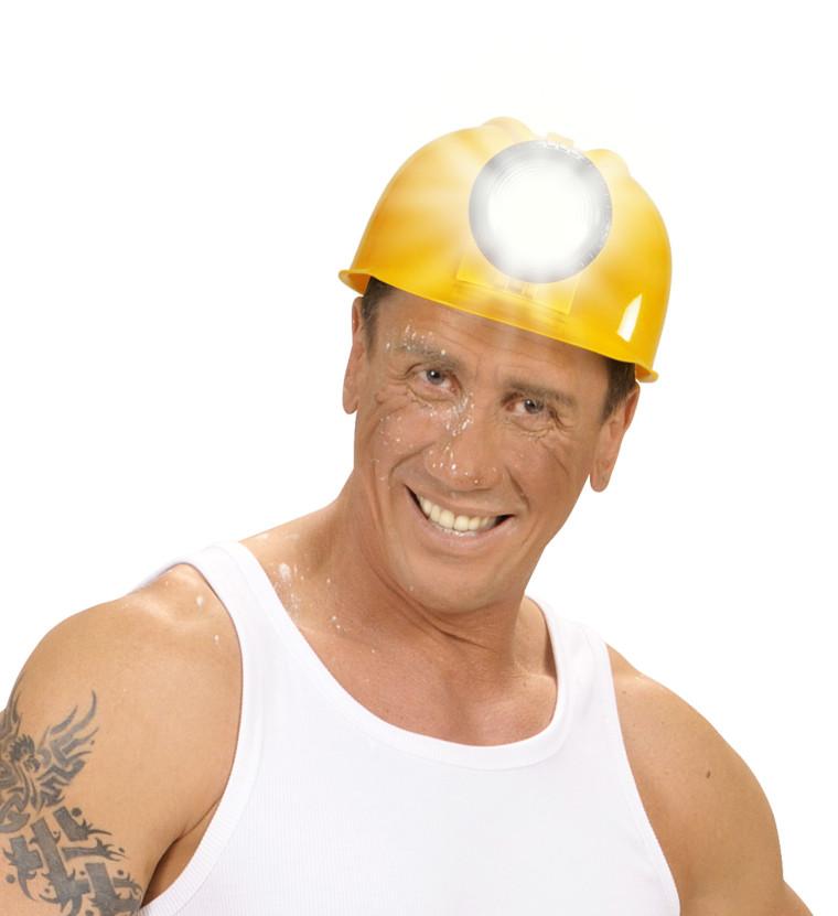 Bauarbeiter Helm Mit Leuchte Grubenarbeiter