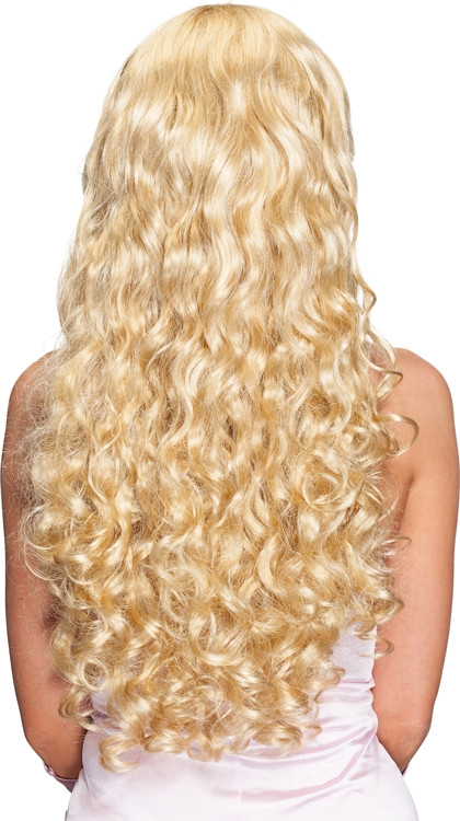 Hochwertige Frisurperücke Blond Lange Haare Zum Verstellen Und Anpassen