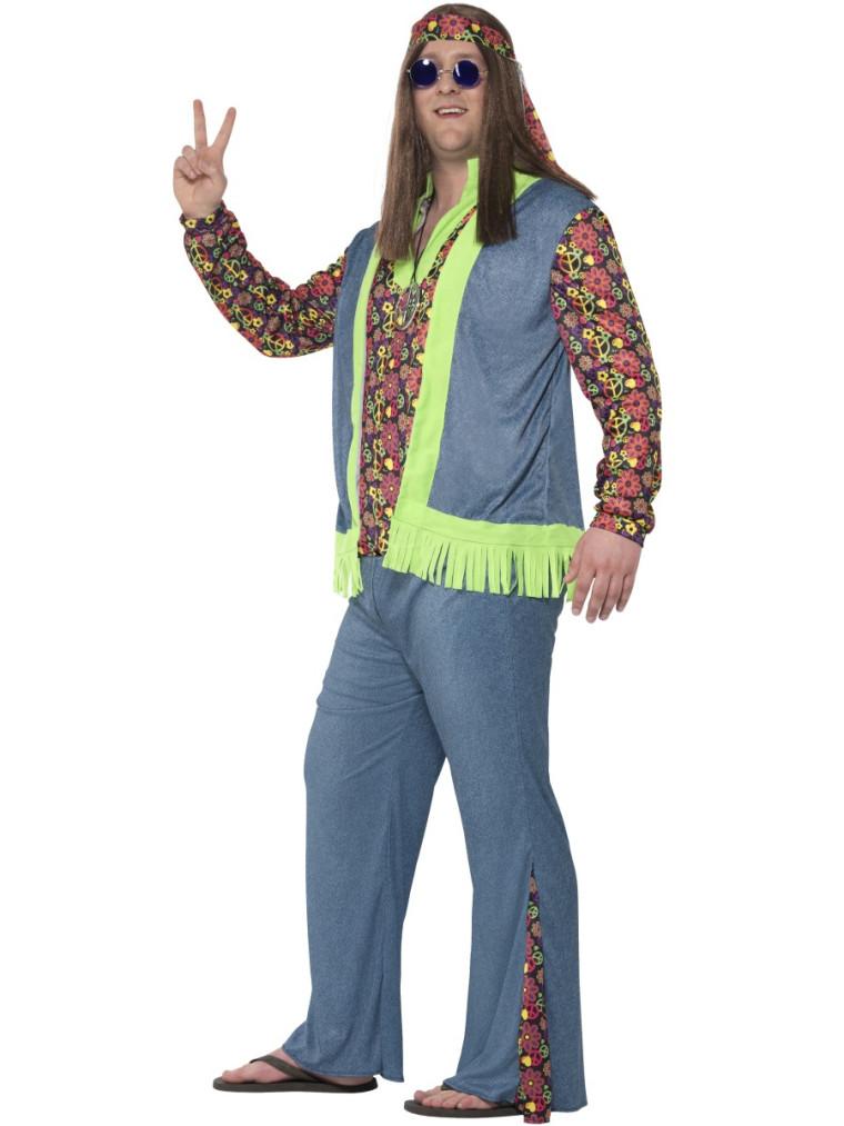 Peace And Love Hippie Kostum Fur Herren In Ubergrosse Bis Xxl