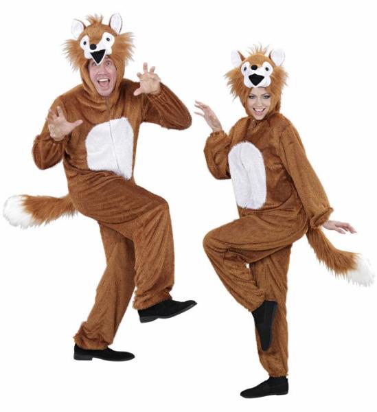Fuchs Kostum Fur Erwachsene Damen Herren Pluschoverall Fuchskostum