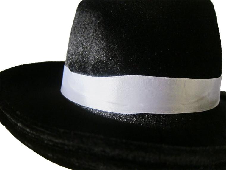 Mafia Hut schwarzer Hut Gangsterhut Al Capone Hut Mafiahut Zylinder Karnevalshut