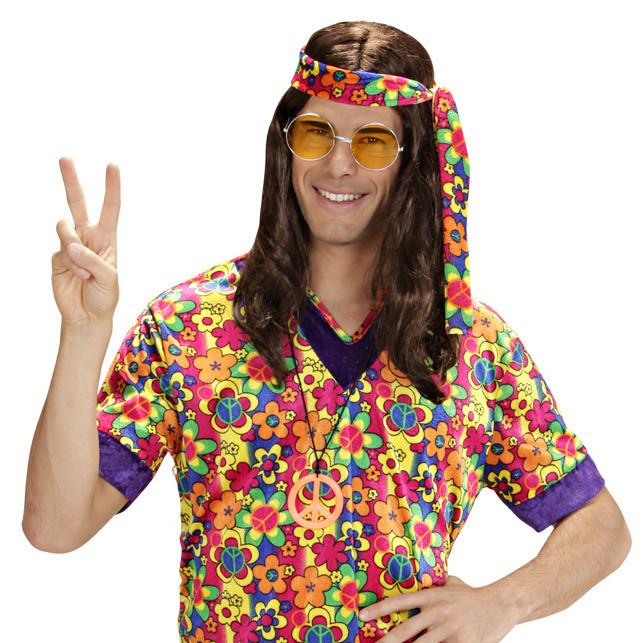 hippie perà cke mit langen haaren in braun fà r herren