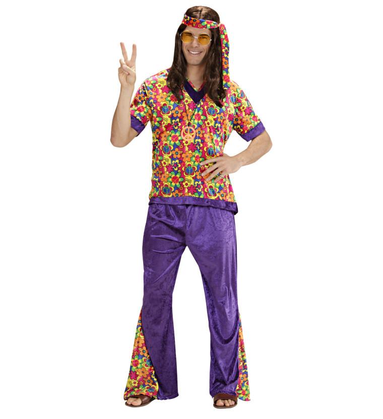farbenfrohes karnevalkost m hippie f r m nner. Black Bedroom Furniture Sets. Home Design Ideas