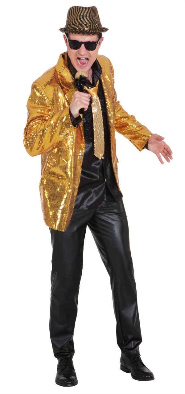 glitzer jacket f r herren in gold mit pailletten. Black Bedroom Furniture Sets. Home Design Ideas