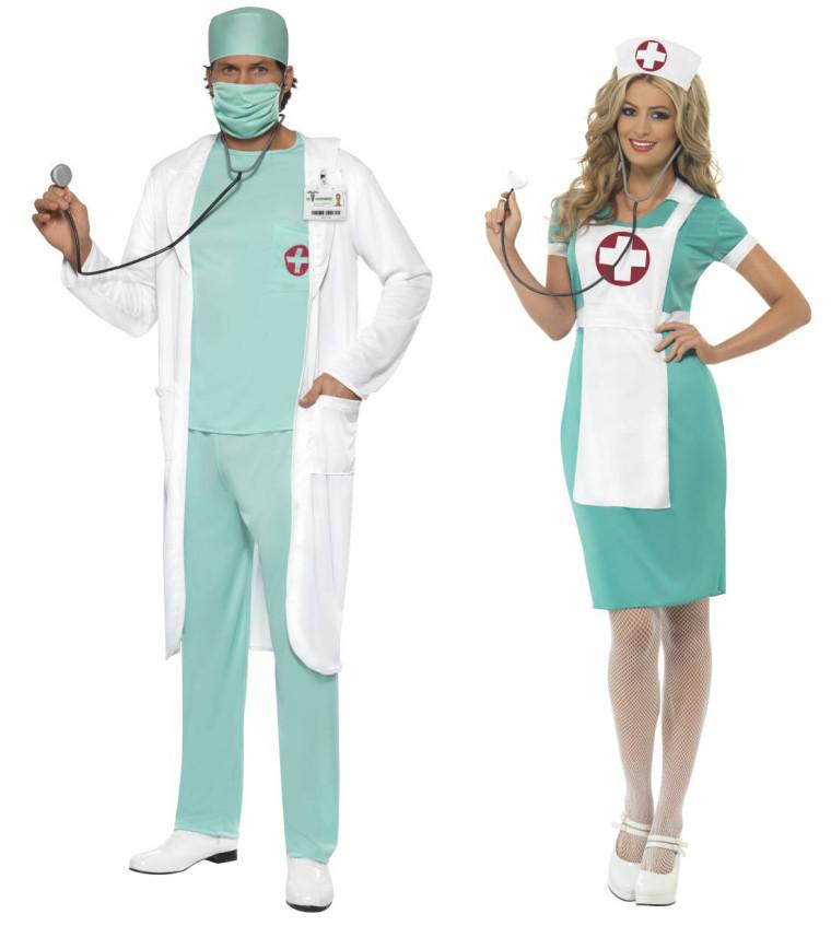 Paarkostum Krankenhaus Arzt Und Krankenschwester