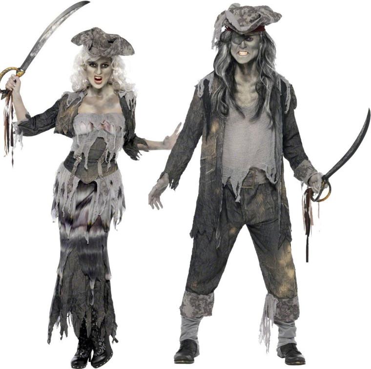 Zombie Piraten Kostum Fur Paare Zu Halloween Und Karneval