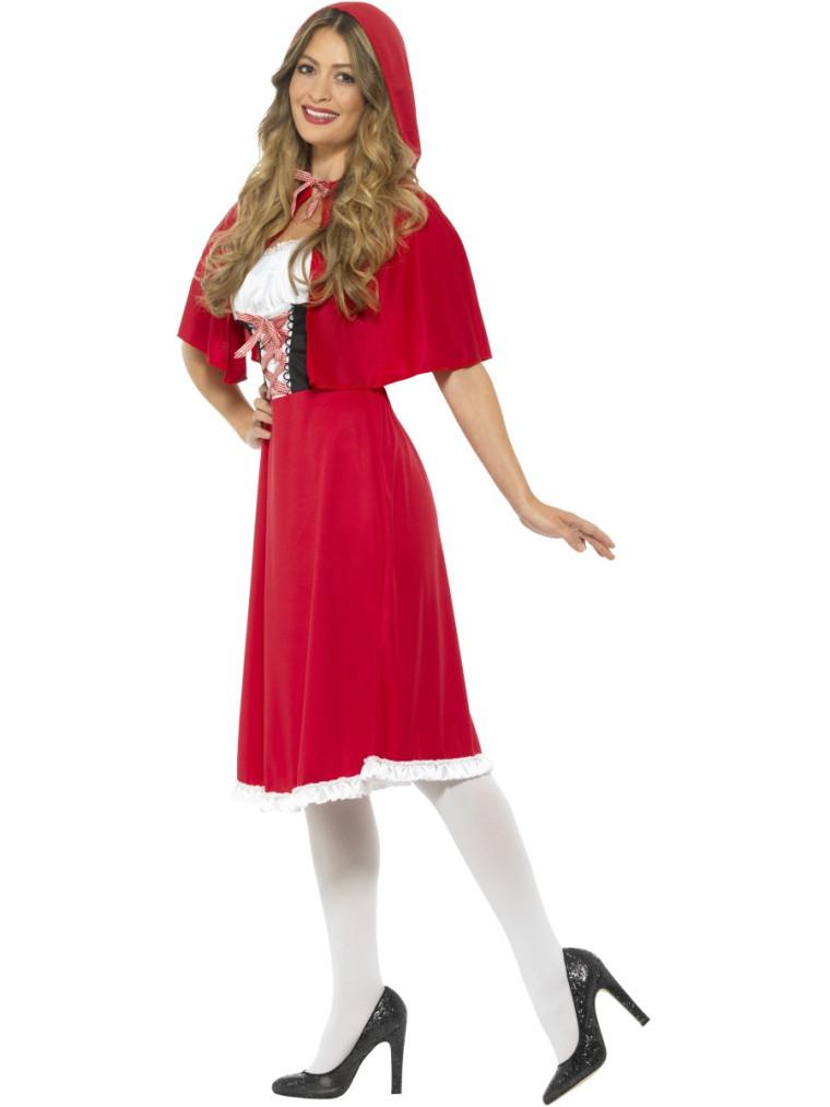 Schones Rotkappchen Kostum Mit Kleid Korsage Und Cape