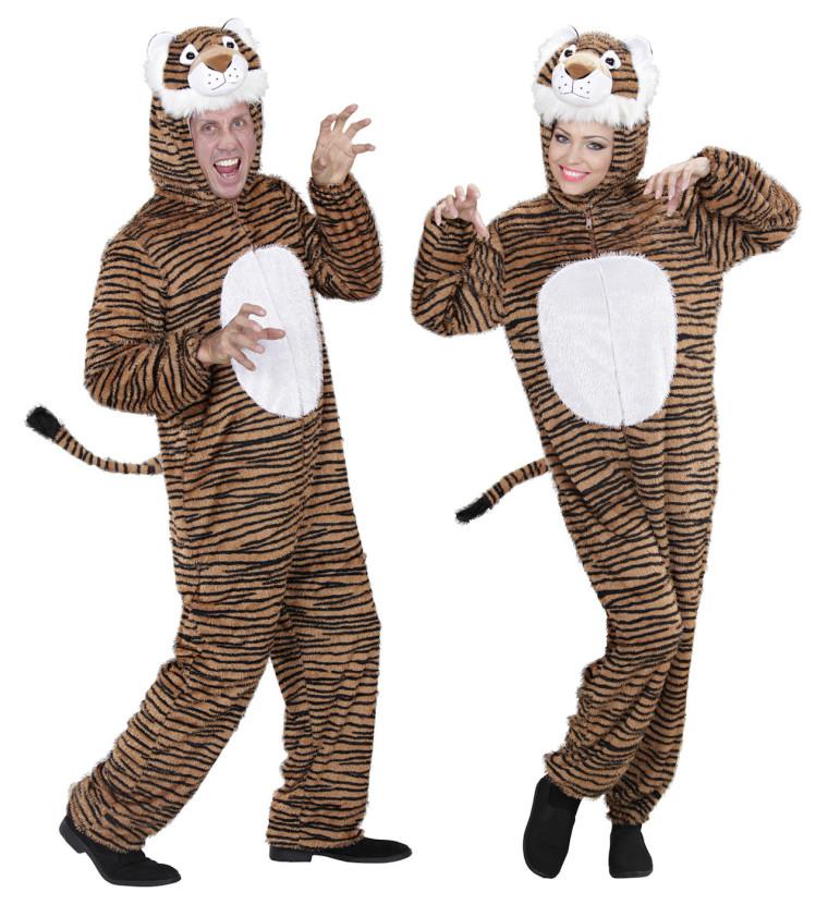 tiger tierkost m pl sch overall f r erwachsene mit braunen. Black Bedroom Furniture Sets. Home Design Ideas