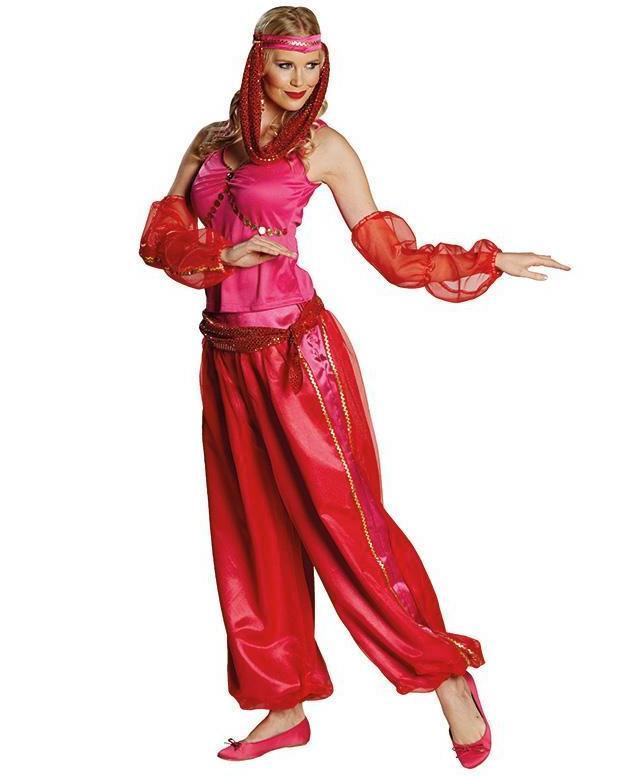 1001 Nacht Kostum Prinzessin Jasmin In Rosa Als Harems Tanzerin