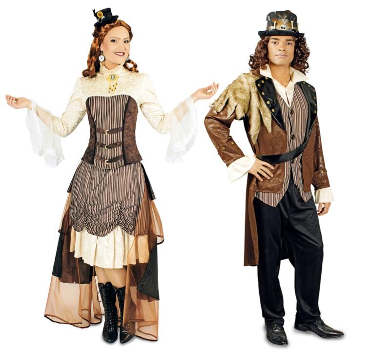 steampunk kostum fur paar gunstig