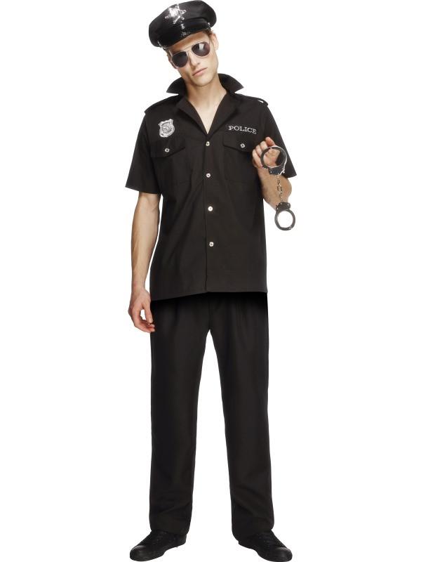 Polizist Polizei Hemd Uniform Anzug Weste Herren Polizeikostüm FBI SWAT Police