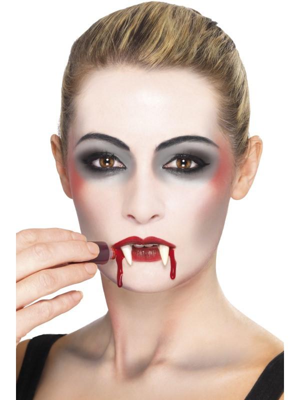 Vampir Set Schminke Mit Blut Schwammchen Und Eckzahne Komplett