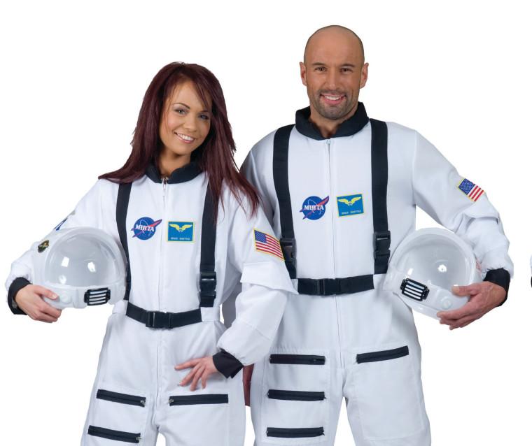 Astronauten Helm In Weiss Mit Visier Klarsicht Fur Kostume