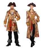 Edle Piraten Paarkostüm mit ausgefallenem Schatzkarten Motiv