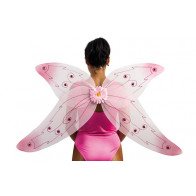 Flügel in rosa