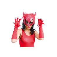 Maske Teufelin mit Handschuhen