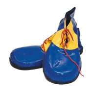 Schuhe Clown blau/gelb