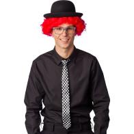 Karierte Krawatte s/w