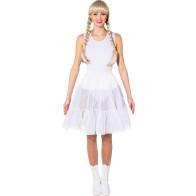 Petticoat knielang, weiß