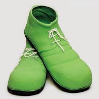 Clown Schuhe grün
