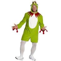 Mann im Froschkostüm Overall mit Kapuze
