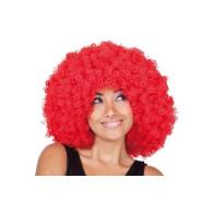 Afro-Perücke rot
