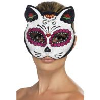 Bunte Katzenmaske