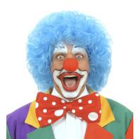 Perücke-Clown blau