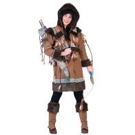 Oberteil / Jacke mit schönen Inuit Ethno Details, sowie Überschuhe passed.