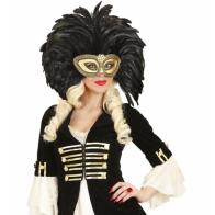 Goldene Maske m. Federn