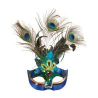 Pfauenfeder Maske