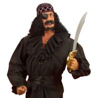 Piratenhemd schwarz