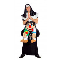 Scheinheiligen Carry-me Kostüm Nonne