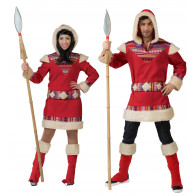 Inuits - Eskimopaar Kostüm