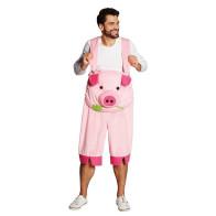 Latzhose Karneval Schwein für Herren