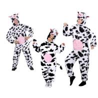 Familien Tierkostüm Kuh, Stier und Kalb für Gruppen