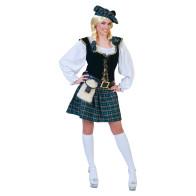 Hübsche Frau kostümiert als Schottin