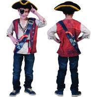 3D Pirat Kinderhemd