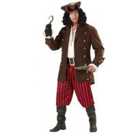 Mann verkleidet als Seerräuber mit braunen Mantel im Antik Look