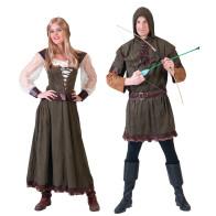 Sie und Er im Partnerkostüm Robin Hood & Marion.