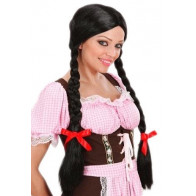 Gretel Zöpfe schwarz